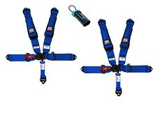 Simpson Latch Harnesses 3x3 Blue W/Black Hardware Bolt In No Pads Polaris Bypass