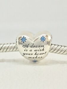 Authentic Pandora Disney Cinderella Dream Heart Charm 791593CFL + Box