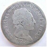 1825 ITALIAN STATES, SARDINIA, Carlo Felice, 1 Lira grading FINE. RARE.