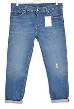 LEVIS 501 CT Boyfriend Tapered Crop Bleu Vieilli Jeans Taille 8 W25 L32