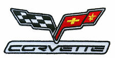 CORVETTE RACING  EMBROIDERED 4 INCH  PATCH
