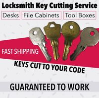 Kennedy Tool Box Keys Pre-Cut To Your Key Code Codes