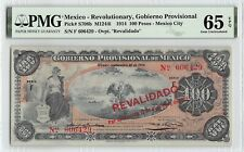 Mexico / Gobierno Provisional 1914 P-S708b PMG Gem UNC 65 EPQ 100 Pesos