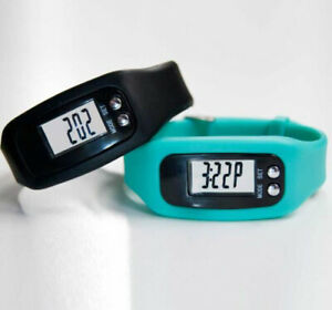 Two Fitness Tracker Activity Watch L25.5 x W2.9 cm Turquoise Black Steps Walking
