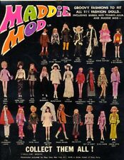 "1970 MADDIE MOD mego fits 11"" barbie doll -- DRESS COAT BOOTS JACKET PANTS SHIRT"