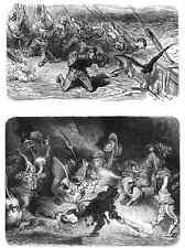 Gustave Dore gigantón Pantagruel 127 A4 Foto impresión