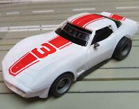 für H0 Slotcar Racing Modellbahn --  Corvette mit Tyco Chassis