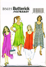 Butterick Sewing Pattern 5655 Misses 8-16 Loose Fitting Swing Dress Top & Pants