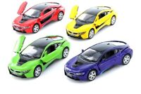 1:36 Scale BMW i8 2 Doors Coupe Diecast Model Car 5 inch Green, Red or Purple