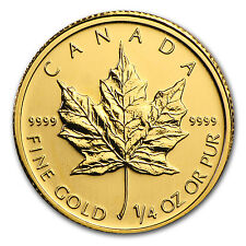 2010 Canada 1/4 oz Gold Maple Leaf BU - SKU #57230