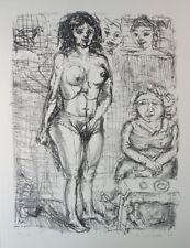 Peter Zeiler erotische Radierung 71/100 handsigniert G-1408