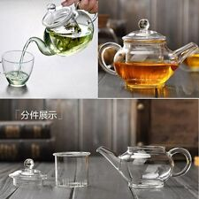 Heat Resistan Glass Teapot With Infuser Coffee Tea Leaf Herbal Pot 250ml NICE FI