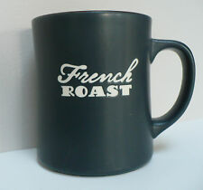 Starbucks French Roast Relief Coffee Mug Matte Black with Chocolate Brown Inside