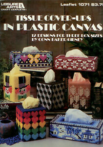 Tissue Cover-Ups in Plastic Canvas Cross Stitch Pattern - Leisure Arts