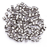 Lots 500/1000pcs Silver/Golden Plated /Black/Bronze Tube Crimp Spacer End Beads