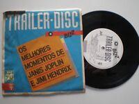 """JANIS JOPLIN JIMI HENDRIX BRAZIL PROM0 """"BIZZ"""" MUSIC MAG 45 1980s"""
