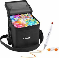 Ohuhu Marker pen 100 colors Both ends With carrying case Writing instrument