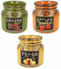 lp27628- MENOR Y Pavey Cerámica FRUTA Redondo jars- Gran Precio