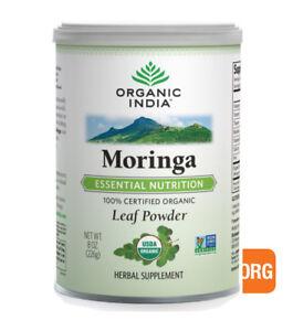6 x 226g ORGANIC INDIA Moringa Leaf Powder -  total (Nutritional Superfood )