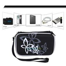 Hard Pouch Carrying Case Bag for 2.5 inch Portable External Hard Drive Black