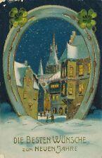 AK, Prägekarte, Neujahrskarte - verschneite Ortschschaft, 1911; 5026-76