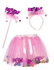 Princess Expressions ~ BIRTHDAY GIRLl Tutu Poms with Wand & Headband ~ NWT