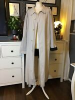 80s 90s Vintage Oversized Mac Trench Grey Maxi Long Bhs 12 14 16 18 Blogger