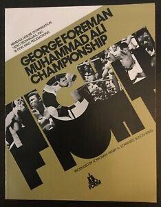 Muhammad Ali vs George Foreman - 1974 Closed-Circuit TV Program - Boxing