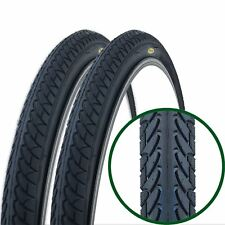 Pair of Fincci 26 x 2.10 Slick Road Mountain Hybrid Bike Bicycle Tyre 54-559