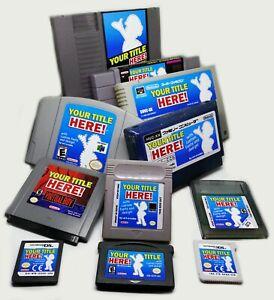 Nintendo Cartridge Label Sticker Vinyl - Custom Videogame NES SNES GB DS Switch