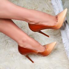 Ladies Pointed Toe Ombre Stiletto Heels Classy Office High Heels Closed Toe Shoe