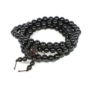 Men BRACELET or Necklace - Black Wood Beads, by Patricia Adelson