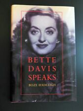 BETTE DAVIS SPEAKS by Boze Hadleigh HARDCOVER 1996 RARE Biography Bipoic