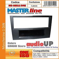MASCHERINA AUTORADIO 1 DIN OPEL CORSA D DAL 2006 IN POI - COLORE GRIGIO SCURO