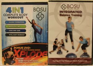 2 NEW Bosu workout DVD lot 4 in 1 complete body & integrated balance training
