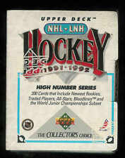 1991-1992 UPPER DECK HOCKEY HIGH NUMBER COMPLETE FACTORY SEALED SET