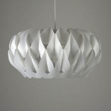 Modern Matt White Pleated Origami Ceiling Pendant Light Shade Lounge Lighting