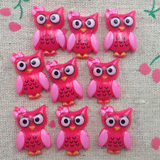 10pcs Owl Flatback Resin Cabochon Scrapbooking for craft.U PICK!
