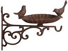 Stazione di alimentazione tradizionale Bird tavolo da giardino piccolo GHISA Abbeveratoio Marrone