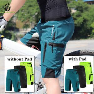 Men's Cycling Shorts Mountain Biking Shorts Quick Dry Outdoor Short Zip Pockets