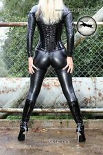 SLINKYSTYLEZ CAMELTOE Catsuit CL1C_ZV1 ElasticLeather 390 - S