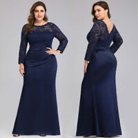 Ever-Pretty US Plus Size Long Lace Evening Gown Mother Of Bride Party Prom Dress