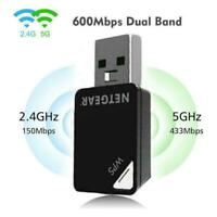 1* 600Mbps Mini A6100 Wifi USB Adapter Dual band Wireless Receiver Card E1V4