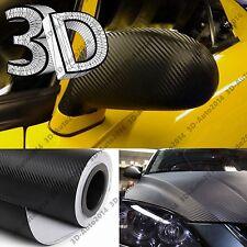 Black 5ft X 7ft 3D Carbon Fiber Vinyl Film Wrap Air Release Pockets Bubble Free