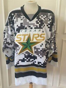 Reebok Edge Texas Stars Pro Stock Game Jersey Military Night FORTUNAS 7332