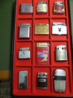 Vintage collection cigarette lighters lot of 12, Zippo, Ronson, Elgin American