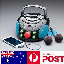 Portable Karaoke CD MP3 Player + Boombox Stereo Speaker AUX Birthday Gift