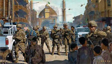 """Lions of Salah ad Din"" James Dietz Artist Proof - Task Force Black Lions, Iraq"
