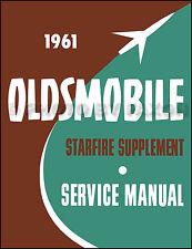 1961 Oldsmobile Starfire Reparación Manual Taller Suplemento 61 1962 Olds