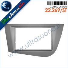 Mascherina autoradio 2ISO-2DIN Seat Leon 2 (1P rest. 2009-2012) Grigio